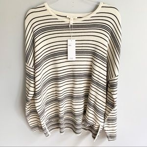 Eileen Fisher Striped Organic Cotton Crew Box Top